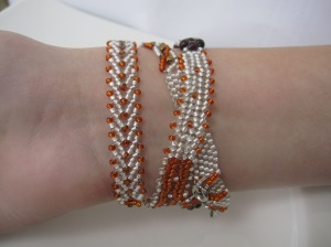orange wickelarmband