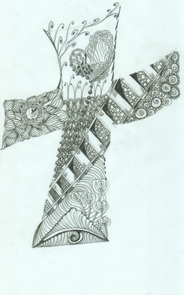 zentangle cross001